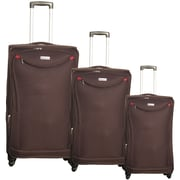 McBrine Luggage 3 Piece Spinner Luggage Set II; Plum