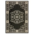 Safavieh Courtyard Black/Sand Outdoor Rug; 4' x 5'7''