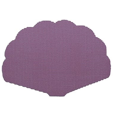 Kraftware Fishnet Shell Placemat (Set of 12); Purple