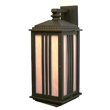 Melissa Parisian Elegance 1 Light Outdoor Wall Lantern; Black