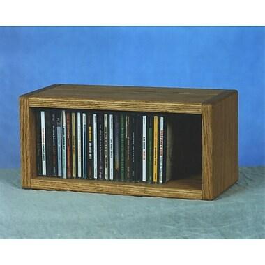 Wood Shed 100 Series 32 CD Multimedia Tabletop Storage Rack; Natural