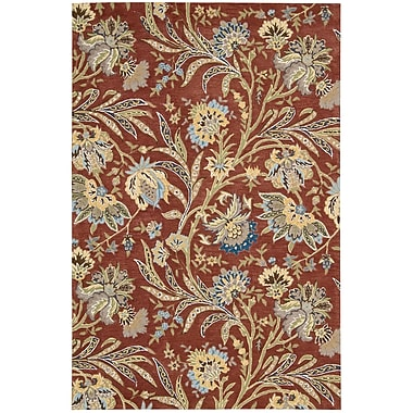 Nourison Gatsby Red Floral Area Rug; Runner 2'3'' x 8'