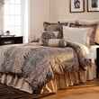 Pointehaven Luxury 12 Piece Animal Print Comforter Set; Queen