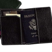 Preferred Nation Leather Passport Cover; Blue