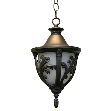 Melissa Tuscany 1-Light Outdoor Pendant; Black