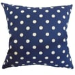The Pillow Collection Rennice Ikat Dots Cotton Pillow; Navy Natural