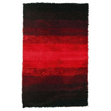 Noble House Jewel Black/Red Rug; 4' x 6'