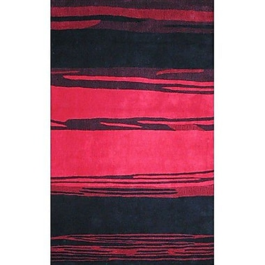 American Home Rug Co. Bright Horizon Pink/Black Area Rug; 5' x 8'