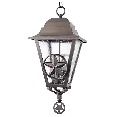 Melissa Americana 3-Light Outdoor Hanging Lantern; Rusty Nail