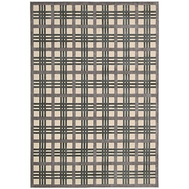 Nourison Graphic Illusions White Plaid Area Rug; 3'6'' x 5'6''