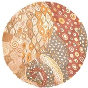 Momeni New Wave Natural Area Rug; Round 5'9''