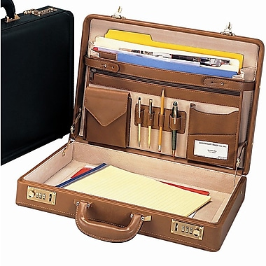 Preferred Nation Bellino Leather Attache Case; Brown