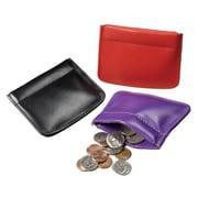 Winn International Facile Frame Leather Coin Pouch; Green
