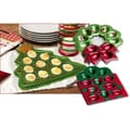 Cypress Happy Holidays Glass Tree and Wreath Deviled Egg Plates (Set of 3)