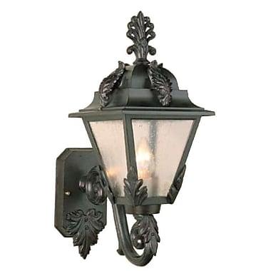 Melissa Parisian Elegance 1 Light Outdoor Sconce; Old Bronze