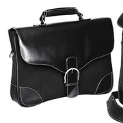 Preferred Nation Vintage Diplomat Leather Briefcase; Black