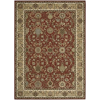 Kathy Ireland Home Gallery Lumiere Stateroom Brick Area Rug; 7'9'' x 10'10''