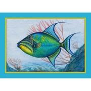 Betsy Drake Interiors Trigger Fish Placemat (Set of 4)