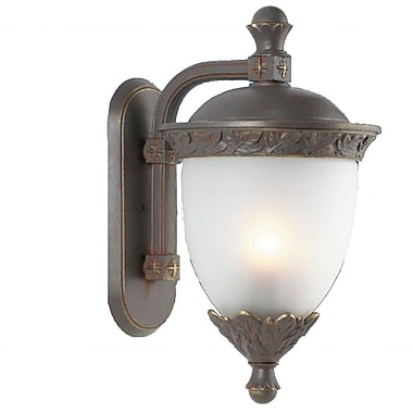 Melissa Tuscany 3-Light Outdoor Wall Lantern; Black