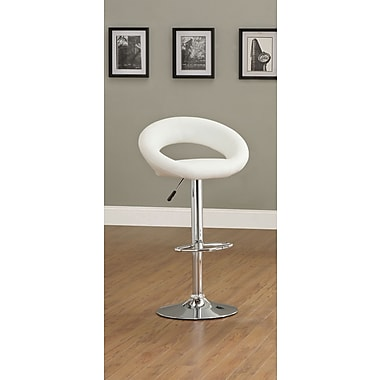Hokku Designs Theory Adjustable Bar Stool (Set of 2); White
