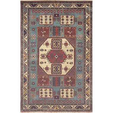 American Home Rug Co. Cactus Ranch Light Blue/Antique Ivory Kazak Area Rug; 8' x 11'