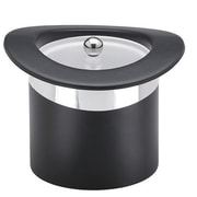 Kraftware Sophisticates Top Hats Ice Bucket w/ Chrome Band in Black