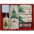 Carnation Home Fashions O Christmas Tree Holiday Print 16-Piece Shower Curtain Set