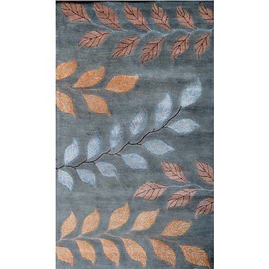 Meva Rugs Andorra Light Blue Area Rug; 5' x 8'