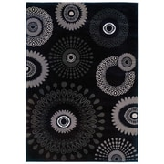 LR Resources Adana Floral Charcoal Area Rug; 9'2'' x 12'6''
