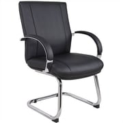 Aaria Elektra Guest Chair; Chrome / Black