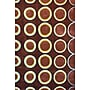 Foreign Accents Festival Chocolate Brown Rug; 5' x