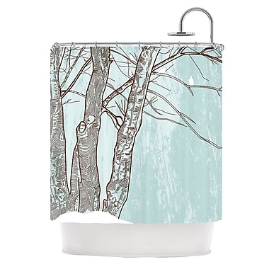 KESS InHouse Winter Trees Shower Curtain