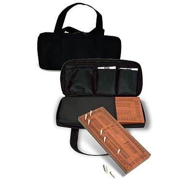 Sunnywood Traveling Triple Track Cribbage Set with Carrying Case