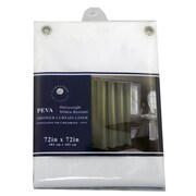 Carnation Home Fashions PEVA Shower Curtain Liner; Super Clear