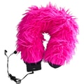 Nek Pillow Neck Pillow Super Deluxe with Hoody; Fuzzy Pink