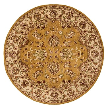 Continental Rug Company Meadow Breeze Dark Gold Rug; Round 8'