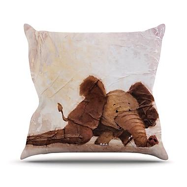 KESS InHouse The Elephant w/ the Long Ears Throw Pillow; 26'' H x 26'' W