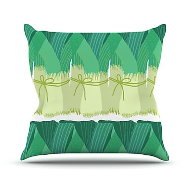 KESS InHouse Leeks Throw Pillow; 18'' H x 18'' W