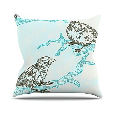 KESS InHouse Birds in Trees Throw Pillow; 20'' H x 20'' W