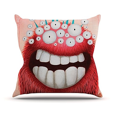 KESS InHouse The LookOut Throw Pillow; 18'' H x 18'' W