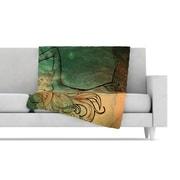 KESS InHouse Poor Mermaid Fleece Throw Blanket; 40'' L x 30'' W