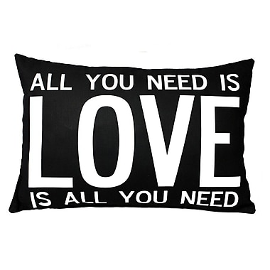 Uptown Artworks Love is All You Need Throw Pillow
