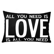 Uptown Artworks Love is All You Need Linen Throw Pillow