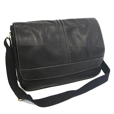 R&R Collections Messenger Bag; Black