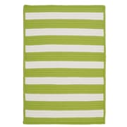 Colonial Mills Stripe It Bright Lime Indoor/Outdoor Area Rug; Square 10'