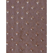 Carnation Home Fashions Lauren Dobby Polyester Fabric Shower Curtain; Brown
