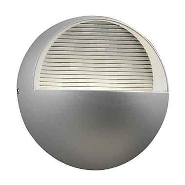 PLC Lighting Tummi 3 Light Outdoor Flush Mount; Silver