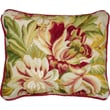 123 Creations Magnolia Needlepoint Pillow; Red