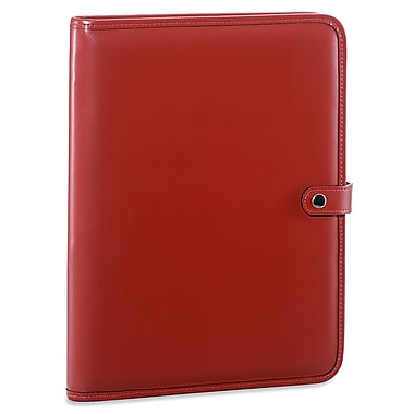 Jack Georges Milano Letter Size Writing Pad with Snap Closure; Red