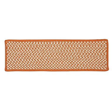 Colonial Mills Outdoor Houndstooth Tweed Orange Stair Treads; Set of 13